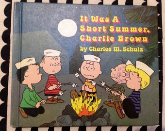 It Was A Short Summer, Charlie Brown by Charles M. Schulz 1970 First Printing Vintage children's book