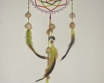 Dream catcher with sea shells, Dreams Wall Hanging, Home Decor