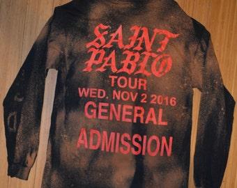 Saint Pablo Tour Vintage Bleached Long Sleeve