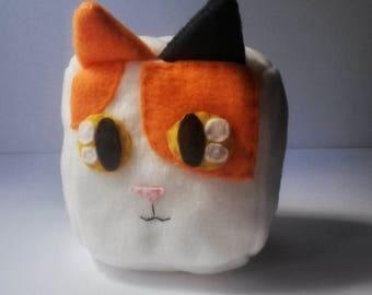 Calico Cat Cube Plush
