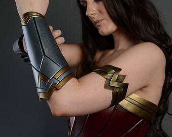 MADE TO ORDER Wonder Woman Costume Cosplay  Bracer Armor Female Bracelet Gauntlets Dawn Of Justice Costume