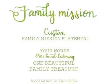 Custom Family Mission Statement