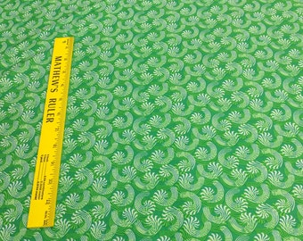 Candy Cane Swirls-Green Cotton Fabric from Fabri-Quilt