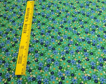 Serenity-Green Flowers Cotton Fabric from Exclusively Quilters