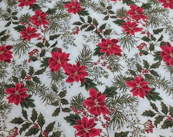 Let It Glow-Flowers on Beige Cotton Fabric from Sentimental Studios for Moda Fabrics