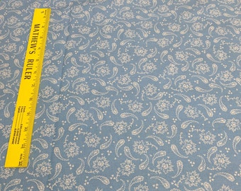 Vintage Floral Paisley Chambray Cotton Fabric from Paintbrush Studios