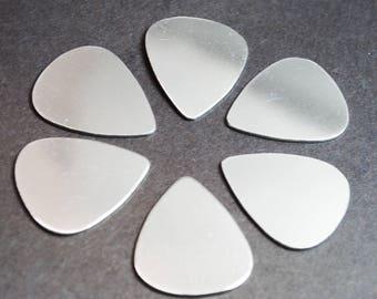 Aluminum Guitar Pick Blanks - Ten 18g 1100 Aluminum Guitar Pick Blanks