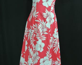 Vintage Hawaiian Tiki Maxi Dress (Hilo Hattie)