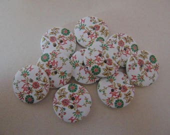 set of 8 round buttons