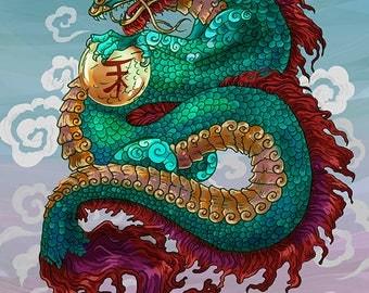 Dragon Print M