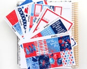 4th of July Weekly Kit (stickers for Erin Condren Life Planner - Vertical)
