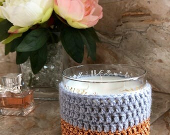 Glitter candle cozy for Bath & Body Works candles in copper and grey!