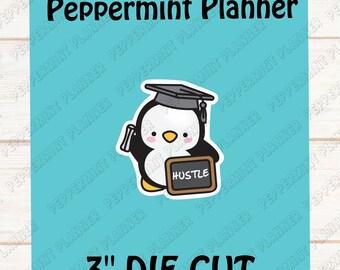Penguin Graduation Hustle Die Cut --- DC14