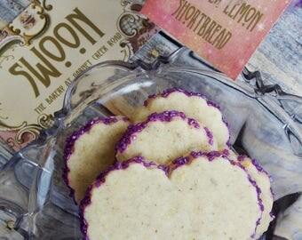 Heart Wedding Cookies ~ Lavender Lemon Shortbread ~ Lavender Wedding Cookies ~ Wedding Favors ~ Valentine's Favors