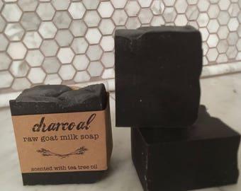 Charcoal + Tea Tree Oil Goat Milk Soap
