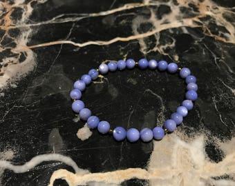 Blue Shell Beaded Bracelet