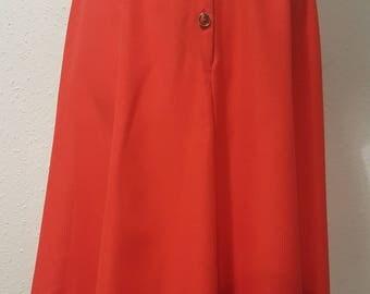 1980s St Michael skirt•vintage skirt•red skirt•A line skirt•UK 8/10/12•US 10/12/14