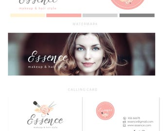 Branding kit logo design - Makeup logo design - Beauty logo design - Beauty branding package