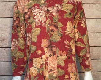 Rare Vintage Smith and Hawken Floral Gardening Jacket workwear