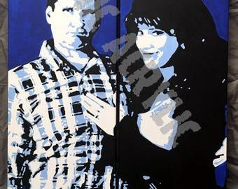 PRINTS of Al & Peggy Bundy set of (2) 8x24