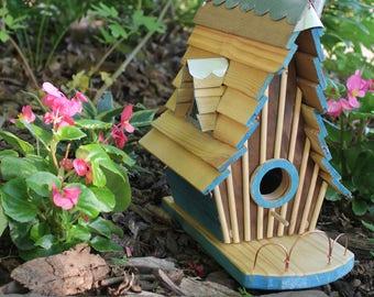 Bird House - Whoville House - Handmade wood birdhouse