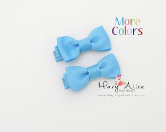 """Baby Hair Bow Set of 2- 1.75"""" Girls Hair Bow, Toddler Hair Bow, No Slip Alligator Clip for Baby Girl- Made to Order"""