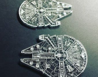 Millennium Falcon Clear Coaster Set