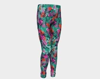 Pineapple Kids Leggings, Pineapple Leggings, Pineapple Clothes, Tropical Kids Leggings, Kids Pineapple Leggings, Tropical Kids Clothes