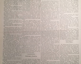 The Harvard Crimson Newspaper Publication c. 1886