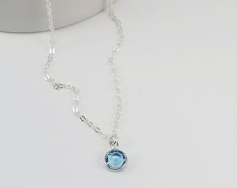 Aquamarine Necklace, Aquamarine Birthstone Necklace, March Birthstone, Aquamarine Jewelry, March Birthday Gift, Birthstone Jewelry
