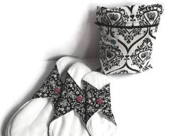 Towel - Pantiliner - washable - reusable - Urinary leakage - Menstruation - absorbing - Zero waste - feminine Hygiene - Kit