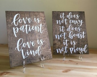 1 Corinthians 13 Signs (Set of 6)