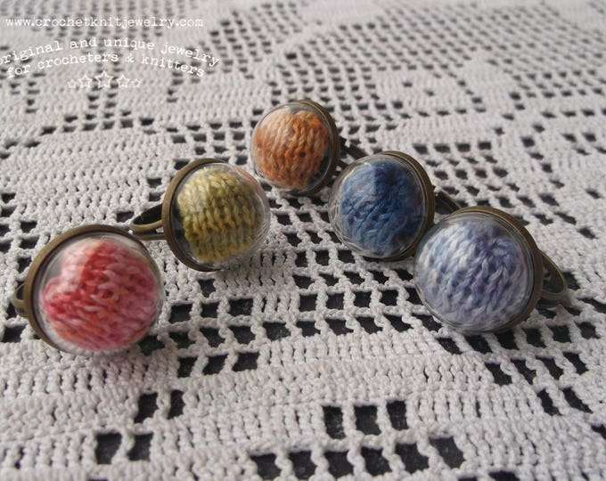 Featured listing image: Yarn Ring for Knitter, choose your color