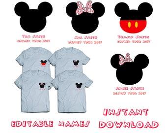 EDITABLE NAMES Disney Iron On Transfer, Disney Trip Iron On, Family Disney Trip, Family Logo, Family Shirt