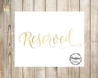 Reserved Sign | Wedding Reserved | Reserved Table Sign | Reserved Wedding | Reserved Signs | Reserved Table | Reserved Seating | Reserved
