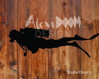 Scuba Diver Decal