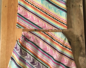 Diagonal Striped Top and Skirt Size 4T-5T