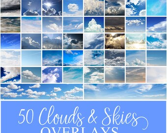 Clouds and Skies Overlays Vol. 01 | Cloud Overlays | Sky Overlays | Overlay | Photography