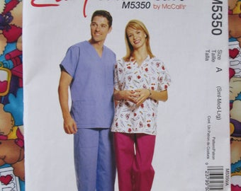 Scrubs Pattern Plus Jelly Bean Junction Scrubs Fabric 2+ Yards MM Fab Veterinarian Doctor Nurse Surgeon Cats Dogs Water & Stain Resistant