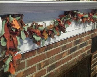 Fall fabric garland, Thanksgiving garland, Thanksgiving decor, fall decorations, fall home decor, fall photo props
