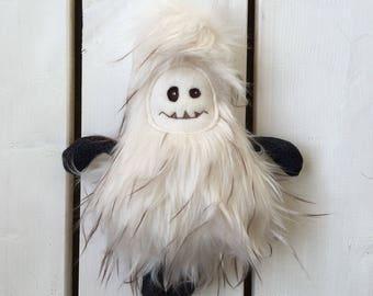 Ready to ship, yeti, abominable snowman, sasquatch, monster, handmade, shower gift