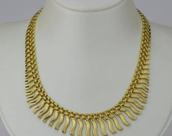 14k Yellow Gold Estate Cleopatra Necklace 17 1/2'' Long(01482)