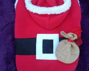 Santa dog costume, dog santa costume, santa costume for dogs, santa costume for male dogs, christmas dog costume