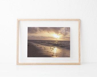 Ocean, Sea, Sunset, Clouds, Sky,Digital Prints, Digital Download, photography, Landscape, Instant download, Prints,Wall art