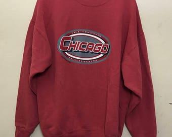 Vintage Chicago Illinois Sweatshirt Sweater Size XL