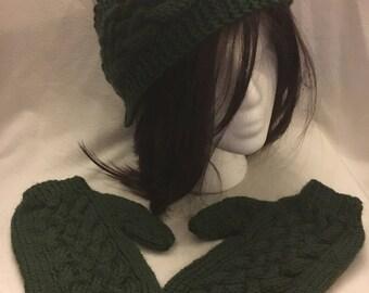 Celtic Knotwork mittens to match headband