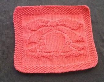 Knitted Dishcloth, Handmade, 100% cotton