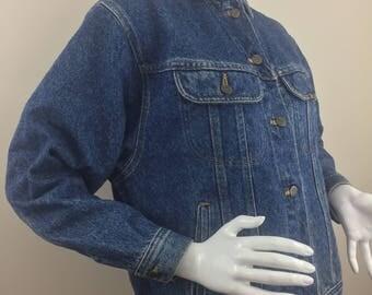 Vintage Lee Denim Jean Jacket /Size Large