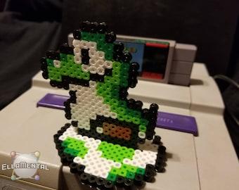 Yoshi | Sprite | Perler Bead Art | with Yoshi Egg Stand