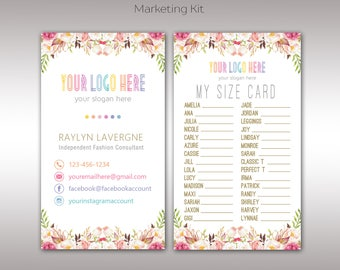 Boho My Size Card, 4x6, Digital, Collection Size, Clothing Size, Marketing, For Fashion Retailer K25904
